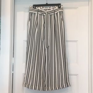 Banana Republic wide leg vertical striped pants